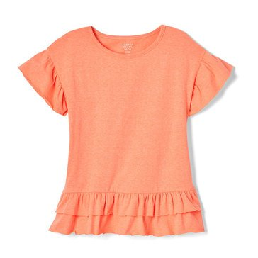 Yarn & Sea Little Girls' Ruffle Sleeve Top