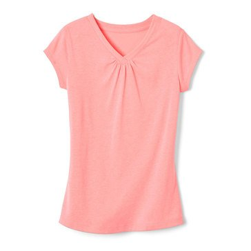 Yarn & Sea Big Girls' V-neck Tee