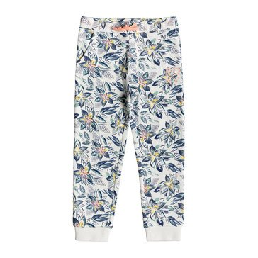 Roxy Little Girls' Cute Song Print French Terry Jogger Pants