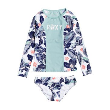 Roxy Big Girls' 2-Piece Long Sleeve Fashion Lycra Swim Set