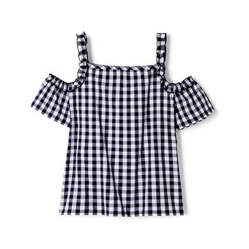 Yarn & Sea Big Girls' Ruffle Top