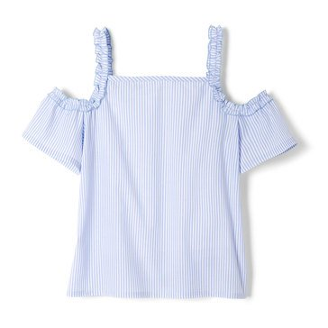 Yarn & Sea Little Girls' Ruffle Top