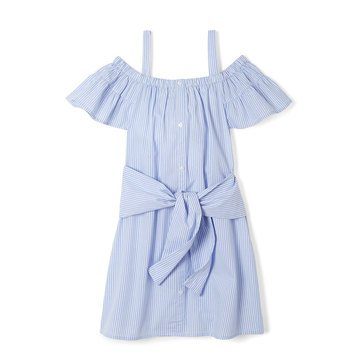 Yarn & Sea Big Girls' Tie Front Dress