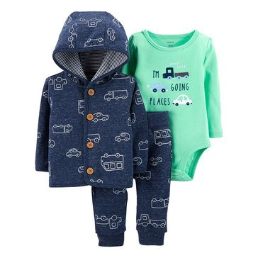 Carter's Baby Boys' 3-Piece Transpiration Cardigan Set
