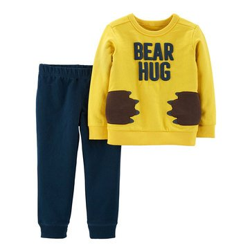 Carter's Baby Boys' 2-Piece Gold Bear Hug Knit Pant Set