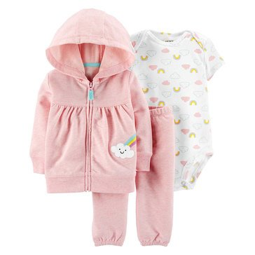 Carter's Baby Girls' 3-Piece Rainbow Cardigan Set
