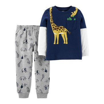Carter's Baby Boys 2-Piece Giraffe Neck Pant Set