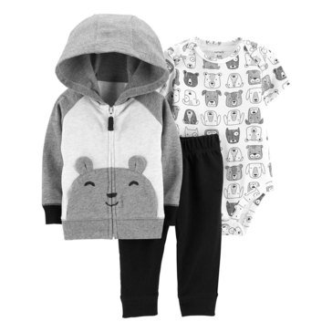 Carter's Baby Boys' 3-Piece Bear Cardigan Set