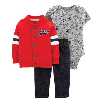 Carter's Baby Boys' 3-Piece Sports Cardigan Set