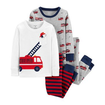 Carter's Baby Boys' 4-Piece Rescue Cotton Pajama Set