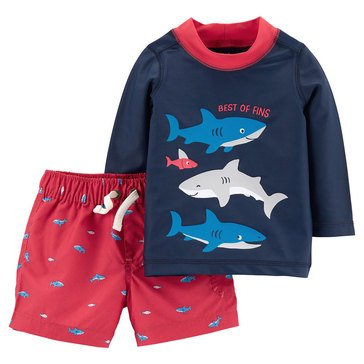 Carter's Baby Boys' 2-Piece Shark Rashguard Set