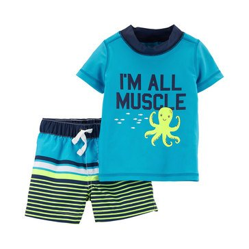 Carter's Baby Boys' 2-Piece Octopus Rashguard Set
