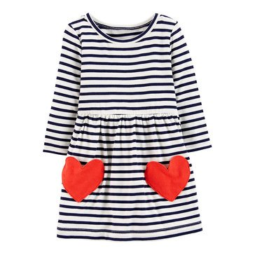 Carter's Baby Girls' Heart Icon Jersey Dress