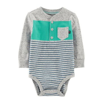 OshKosh Baby Boys' Henley Striped Bodysuit
