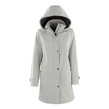 Calvin Klein Women's Soft Shell Snap Front Jacket with Hood