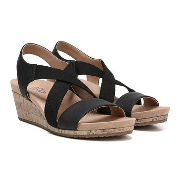 Lifestride Women's Mexico Casual Wedge Sandal