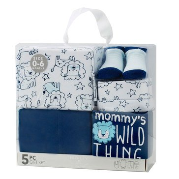 BABY By bon bebe Baby Boys' 5-Piece Gift Set