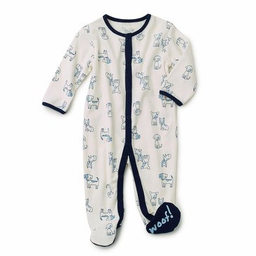 Rene Rofe Baby Boys' Dog Footie Pajamas
