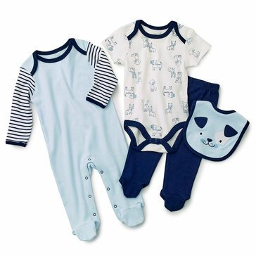 Rene Rofe Baby Boys' Dog 4-Piece Take Me Home Set