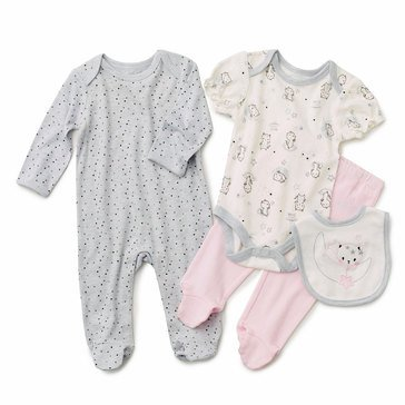 Rene Rofe Baby Girls' Kitten Moon 4-Piece Take Me Home Set