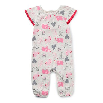 Rene Rofe Baby Girls' Magical Meadow Stretchie Coverall