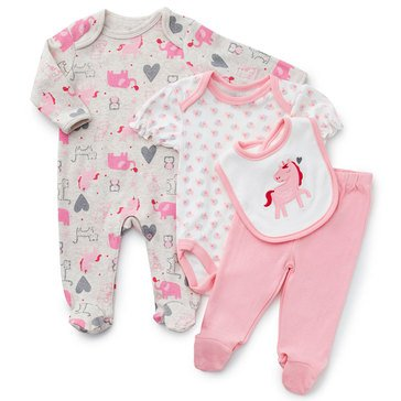 Rene Rofe Baby Girls' Magical Meadows 4-Piece Take Me Home Set
