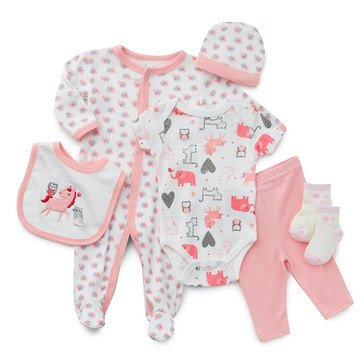 Rene Rofe Baby Girls' Magical Meadows 6-Piece Take Me Home Set