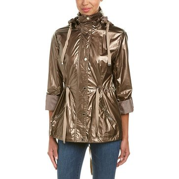 Kenneth Cole Metallic Belted Jacket