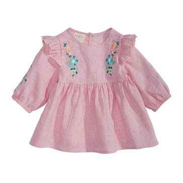 First Impressions Baby Girls' Floral Embroider Top