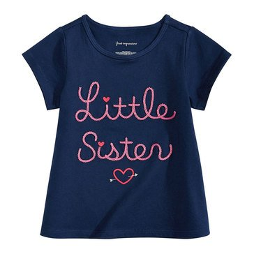 First Impressions Baby Girls' Little Sister Tee