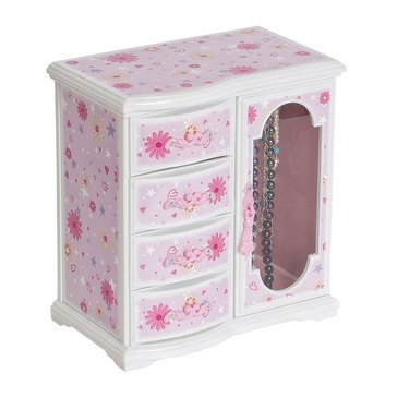 Mele Hyacinth Glittery Upright Musical Ballerina Jewelry Box
