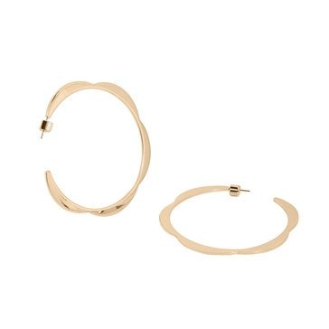 Kate Spade New York Sliced Scallop Large Hoops, Gold Tone