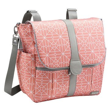 JJ Cole Backpack Diaper Bag, Coral Tile