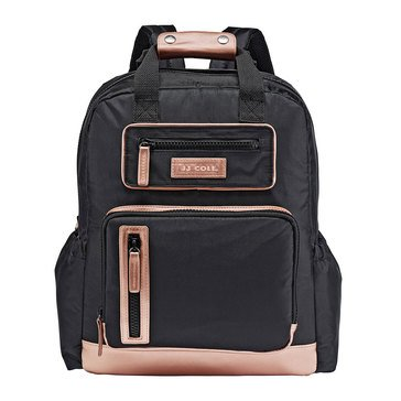 JJ Cole Papago Pack Diaper Bag, Black Rose Gold