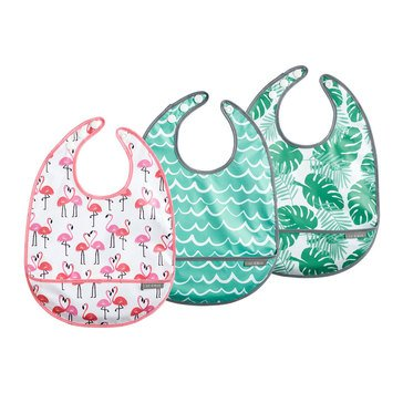 JJ Cole Bib Set, Flamingos