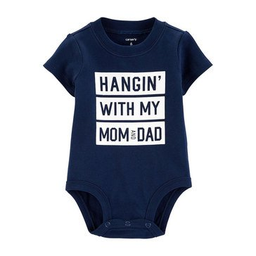 Carter's Baby Boys' Hangin' with Mom & Dad Slogan Bodysuit