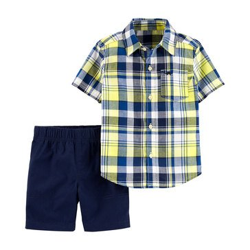 Carter's Toddler Boys' Woven Shirt and Short Two-Piece Set