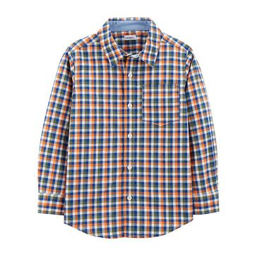 Carter's Little Boys' Woven Plaid Buttonfront Shirt