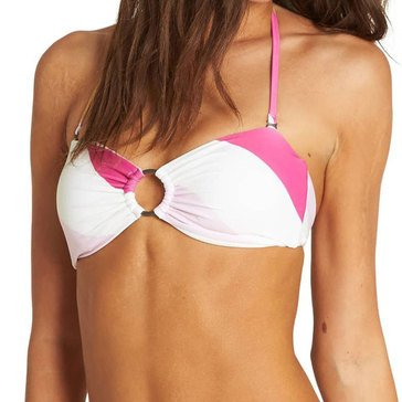 Billabong Women's Soul Striped Bandeau Swim Top