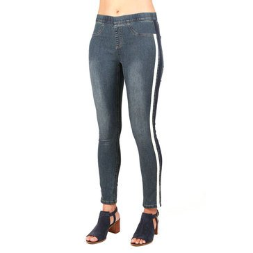 Skye's The Limit Women's Pull-On Side Striped Denim Jeggings
