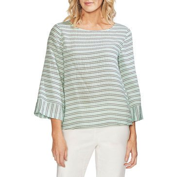 Vince Camuto Women's Striped Rumple Top