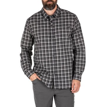 5.11 Men's Long Sleeve Echo Plaid Woven Shirt