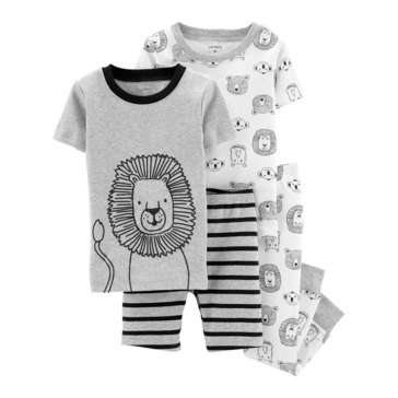 Carter's Toddler Boys' Animal Print Four-Piece Print PJ Set