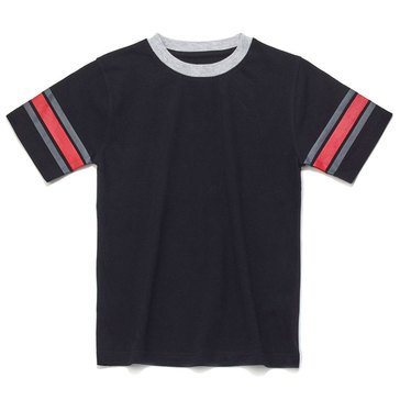 Eight Bells Big Boys' Short Sleeve Ringer Tee with Sleeve Trim