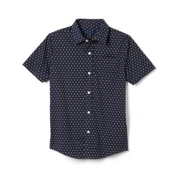 Eight Bells Big Boys' Short Sleeve Printed Woven Button Front