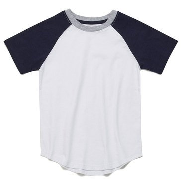 Eight Bells Little Boys' Short Sleeve Color Blocked Raglan Tee