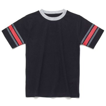Eight Bells Little Boys' Short Sleeve Ringer Tee with Sleeve Trim