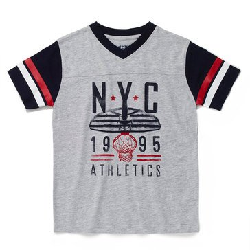 Eight Bells Little Boys' Short Sleeve Football Graphic Tee