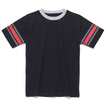 Eight Bells Toddler Boys' Short Sleeve Ringer Tee with Sleeve Trim