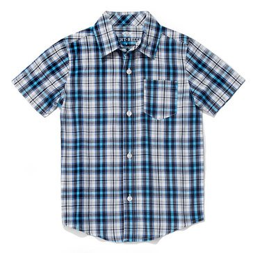 Eight Bells Toddler Boys' Workshop Woven Plaid Button Front
